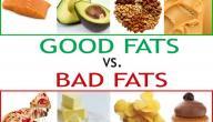 ما هي أنواع الدهون المتواجدة في الأطعمة