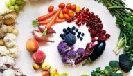 عجلة ألوان الفواكه و الخضراوات