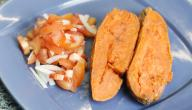 طريقة عمل البطاطا الحلوة في المايكرويف