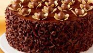 طريقة تزيين الكيك بالشوكولاتة