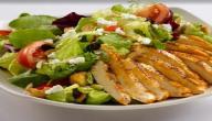 طريقة صنع سلطة الخضروات بشرائح الدجاج