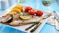 طريقة عمل سمك الدنيس بالزيت والليمون