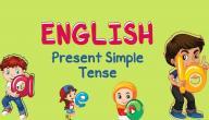 صيغة زمن المضارع البسيط في اللغة الإنجليزية
