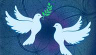 تعبير عن السلام بالعناصر
