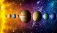كم يبلغ تسارع الجاذبية على كواكب المجموعة الشمسية؟