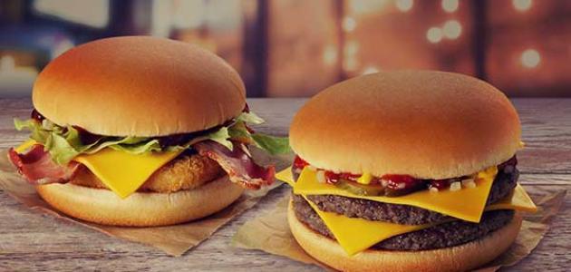 السعرات الحرارية في وجبة ماكدونالدز سطور