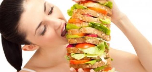 أسباب الأكل بكميات كبيرة
