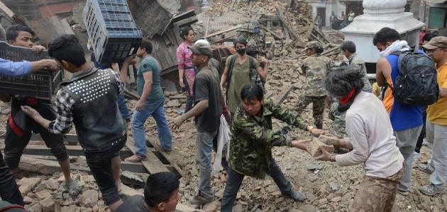 زلزال نيبال اسوأ كارثة منذ 80 عاما