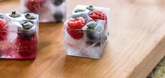 استخدام مكعبات الثلج لإعداد أشهى أطباق التحلية
