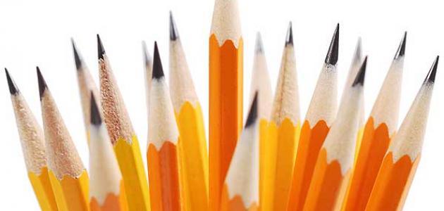 مخاطر استعمال أقلام الرصاص