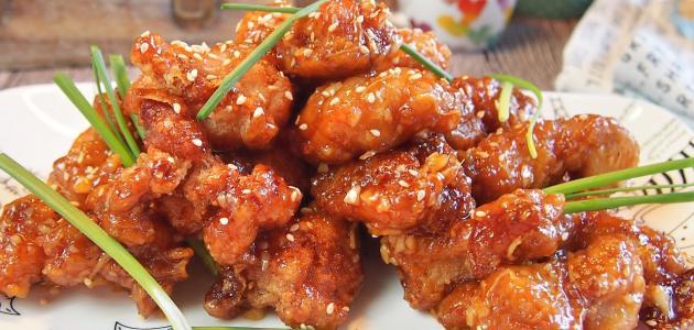 الدجاج الصيني بالسمسم والعسل