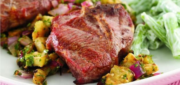 شرائح ستيك لحم الخروف
