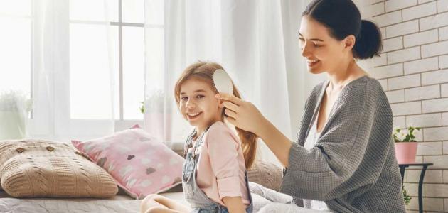 طريقة تنعيم شعر الأطفال