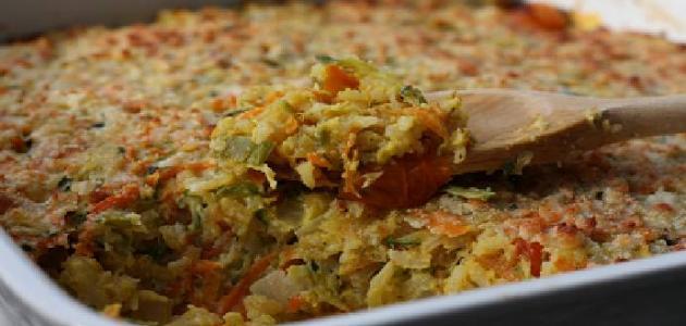 صينية الأرز بالخضروات