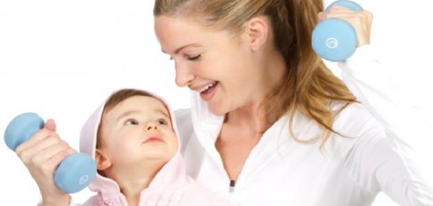 التخلص من الكرش بعد الولادة