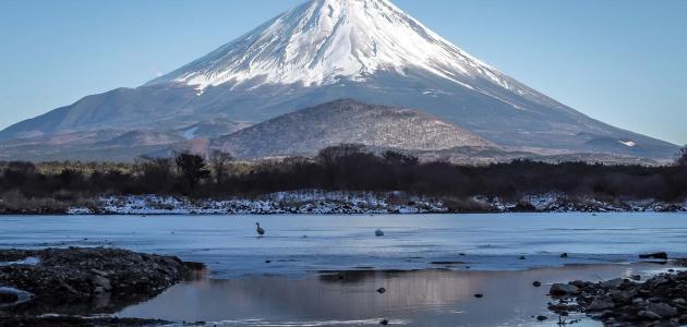 أين يقع جبل فوجي