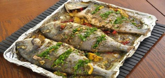 طريقة شوي السمك