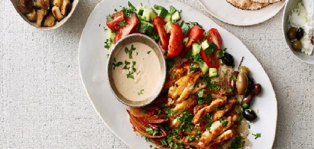 طريقة عمل شاورما الدجاج و الفطر