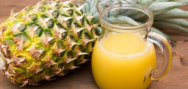 طريقة عمل عصير الأناناس