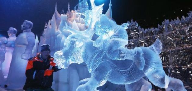 فن النحت على الجليد