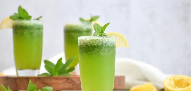 طريقة عصير الليمون بالنعناع