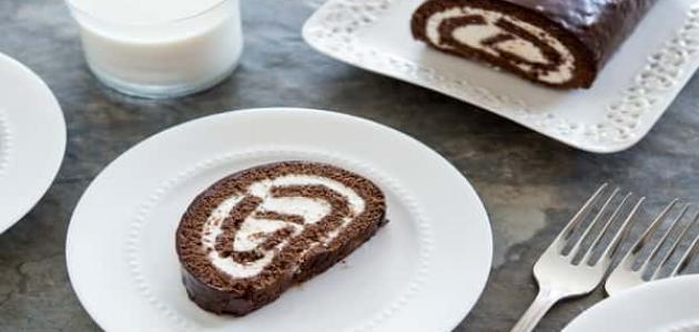 طريقة عمل السويسرول بالشوكولاتة