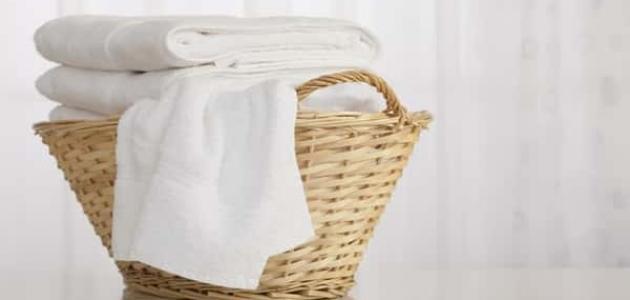 طريقة تبييض الملابس البيضاء