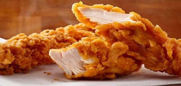 طريقة عمل ستربس الدجاج