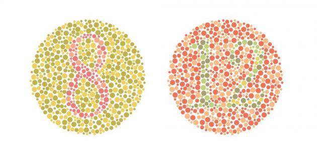 ما هو اختبار عمى الألوان