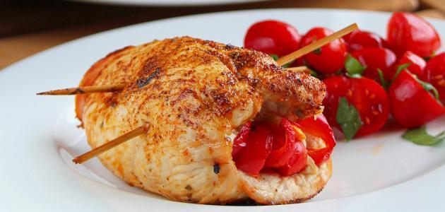 طريقة عمل صدور دجاج محشية