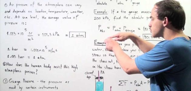 قانون الضغط الجوي