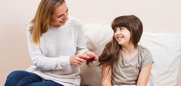 علاج تقصف الشعر عند الأطفال