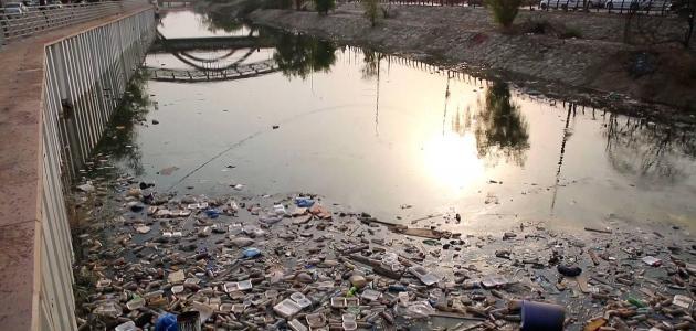 بحث عن تلوث المياه سطور