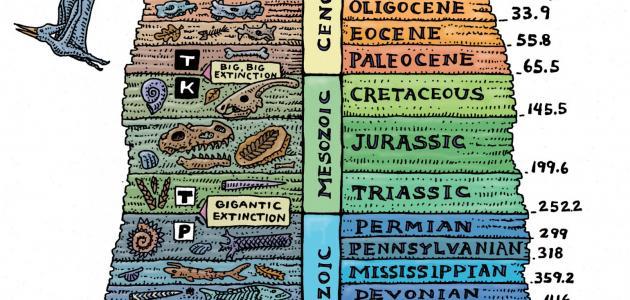 تاريخ الأزمنة الجيولوجية