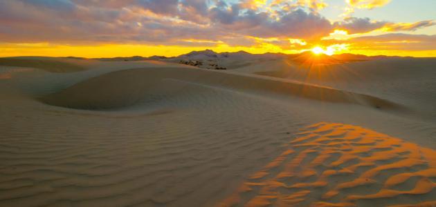 تقرير عن الكثبان الرملية