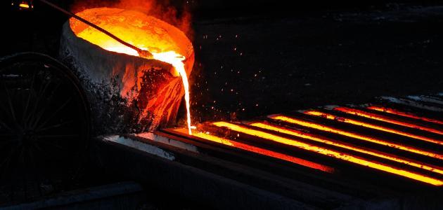 ما هي درجة انصهار الحديد
