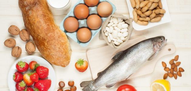 الأطعمة التي تسبب الحساسية الجلدية - سطور