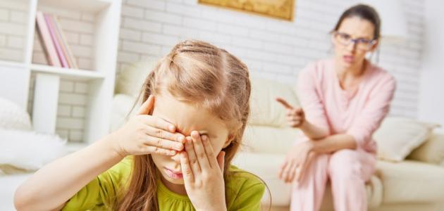 أثر الصراخ على الطفل